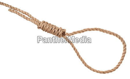 hangmans knot tied on thick jute