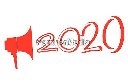 red 2020 megaphone