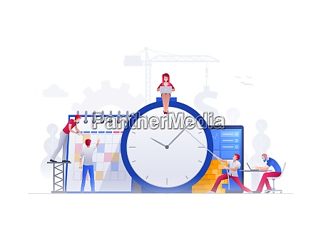 people are working together for time