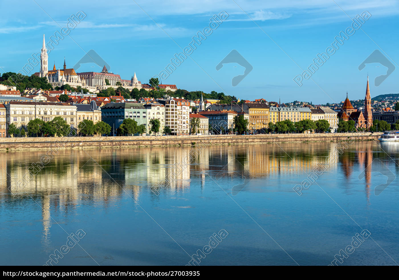 fisherman's, bastion, and, danube, reflection - 27003935