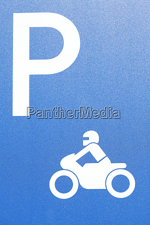 road sign motorcycle parking