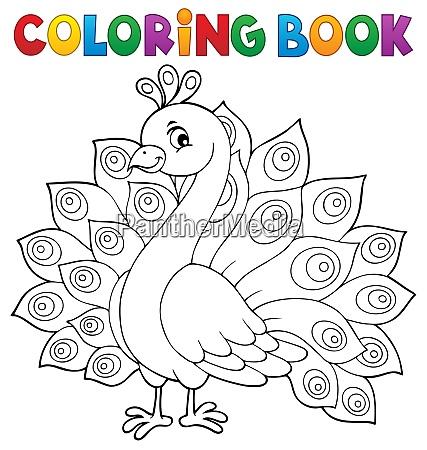coloring book peacock theme 1