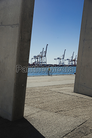 containers at the docks