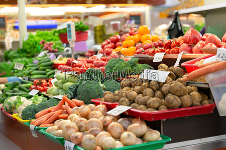 fresh organic and vegetables at farmers