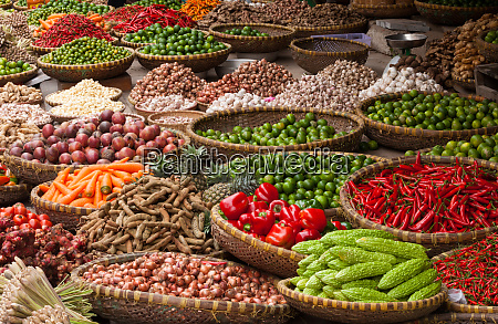 vegetables at market hanoi vietnam