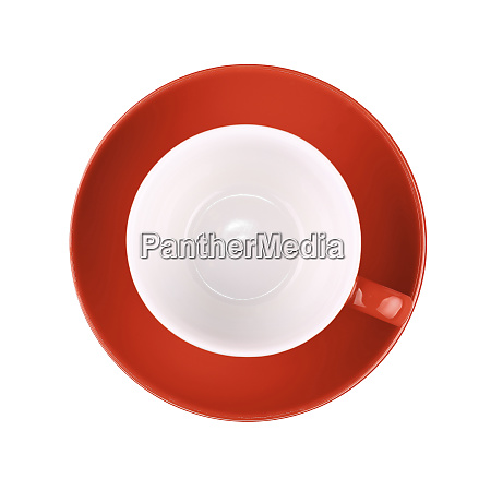 empty red coffee or tea