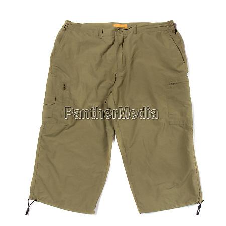 green hiking shorts