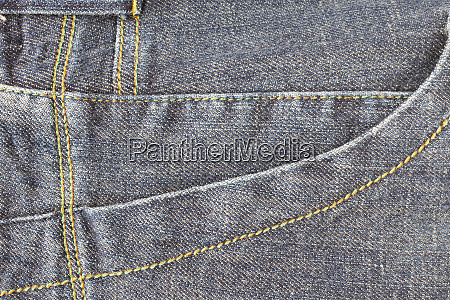 side dark blue jeans pocket or
