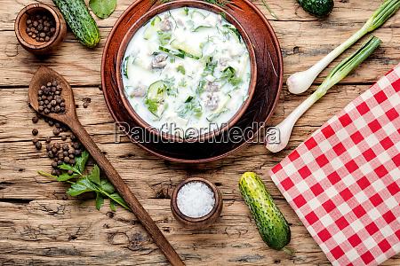 okroshka cold summer soup