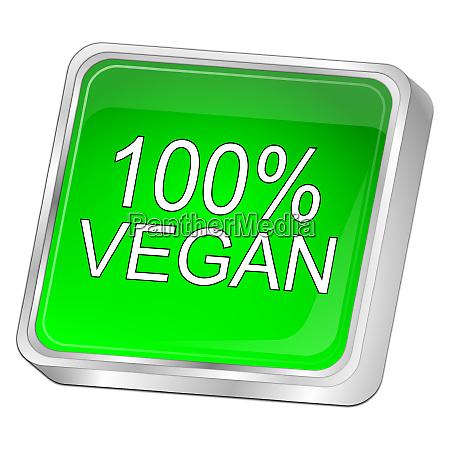 green 100 vegan button 3d