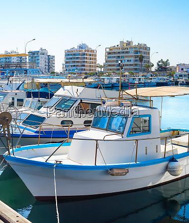 larnaca marina cityscape yachts boats