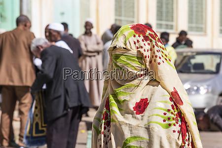 eritrean woman in a burqa at