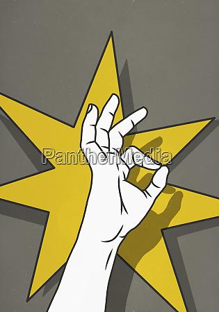 hand gesturing ok