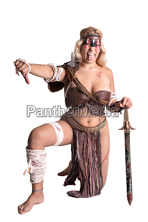 woman gladiatorancient warrior