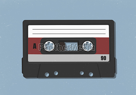 old fashioned audio cassette tape