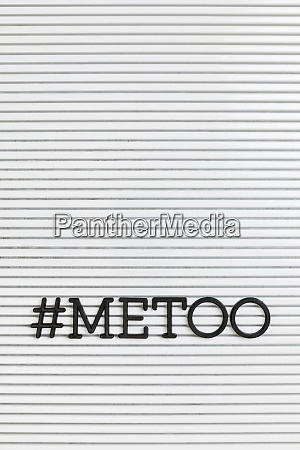 metoo text on white background