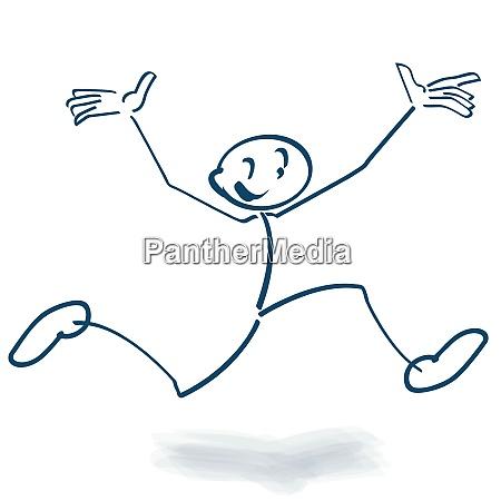 stick figure makes an high air