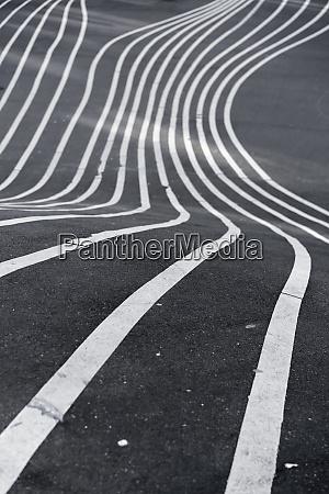 white lines on tarmac
