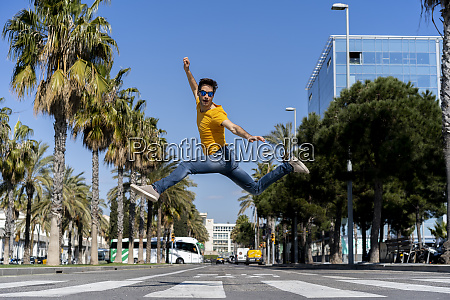 spain barcelona man in the city