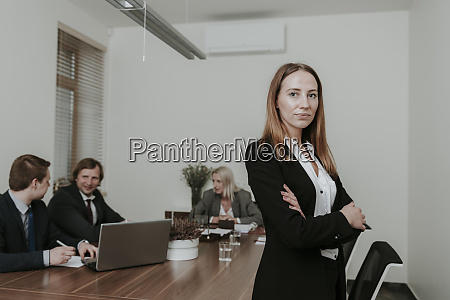 portrait of confident young businesswoman on