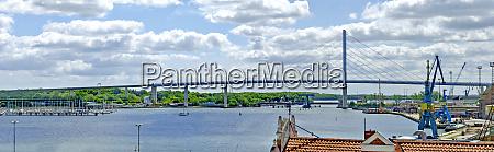 bridge to ruegen at stralsund