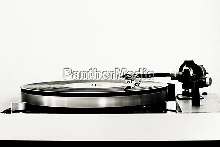 vinyl record on record player