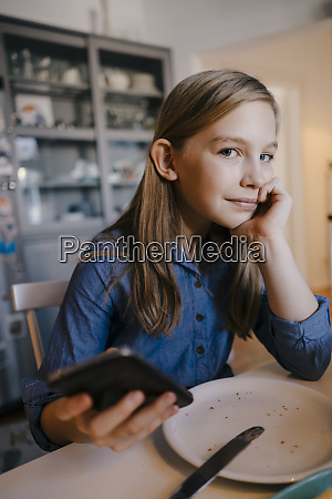 portrait of girl at home sitting