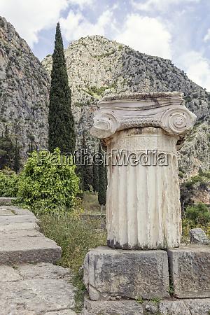greece delphi ionic pillar