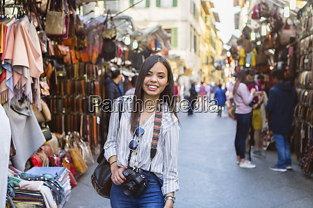 italy florence portrait of happy young