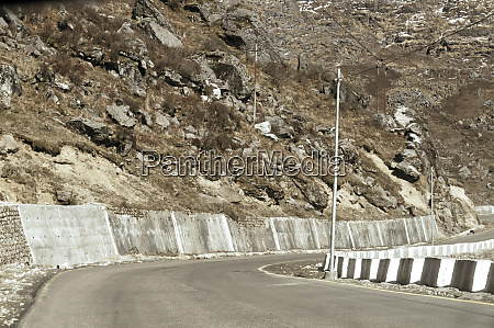 highway road view of india china