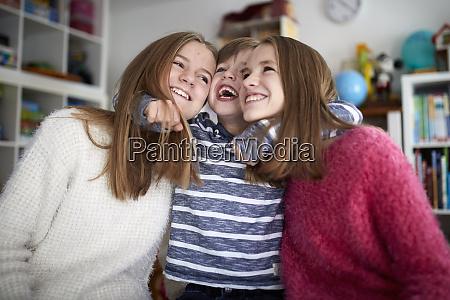 siblings having fun together