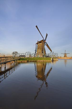 holland south holland kinderdijk wind mill