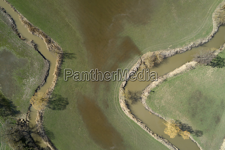 germany middle franconia river aisch aerial