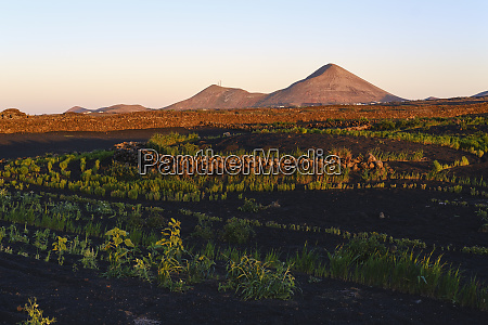 spain canary islands lanzarote tinajo montana