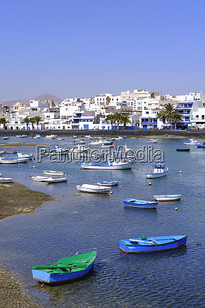 spain canary islands lanzarote arrecife lagoon
