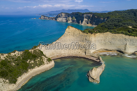 greece corfu aerial view of cape