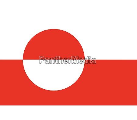 greenland national flag grunge
