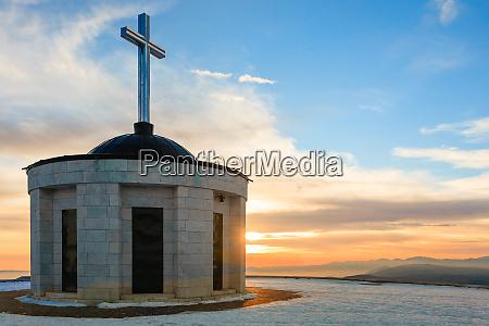 mount grappa war memorial view italy