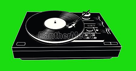 record deck disco vinyl music party