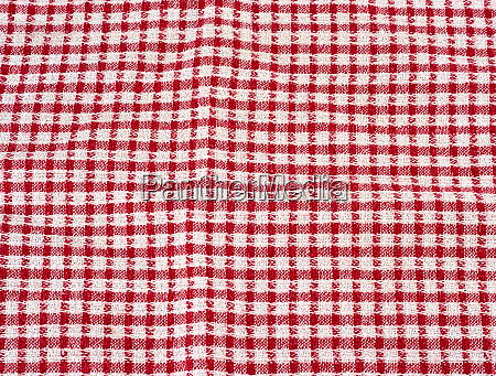 cotton red white kitchen towel full