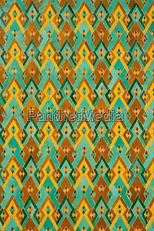 detail of traditional brightly coloured moroccan