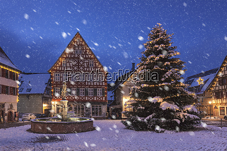 townhall and half timbered house marketplace