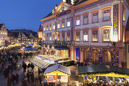 christmas market and advent calendar at