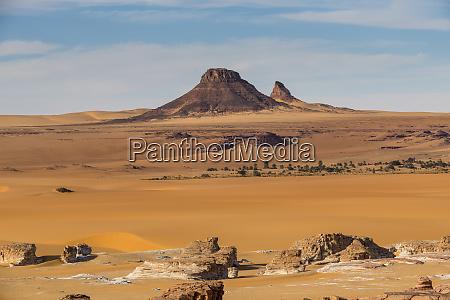 beautiful desert scenery in northern chad