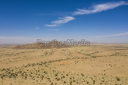 aerial of the sahel chad africa