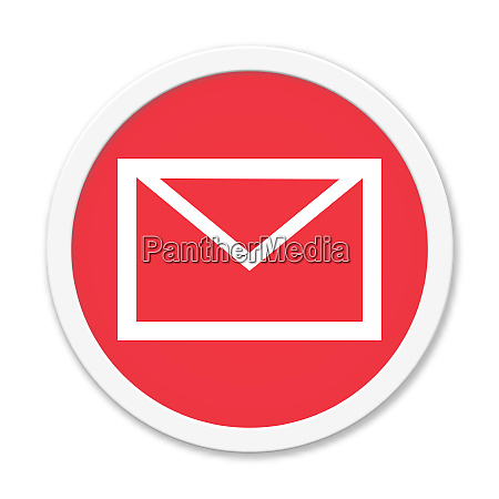 red round button newsletter or contact