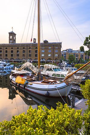 boats moored at st katherine docks
