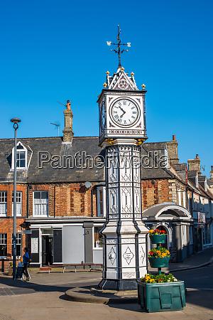 ornate old clock by james scott