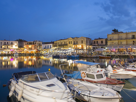 view across the venetian harbour at