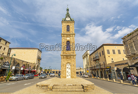 view of the clock tower jaffa